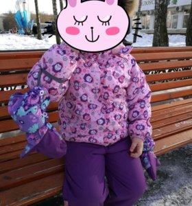 Зимний комплект и краги