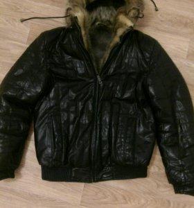Куртка зимняя кожа-мех