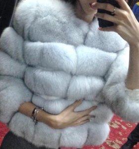 шуба из песца куртка пальто жилет норковая шуба
