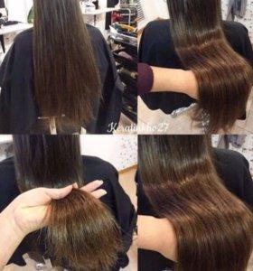 Удаление секущихся волос