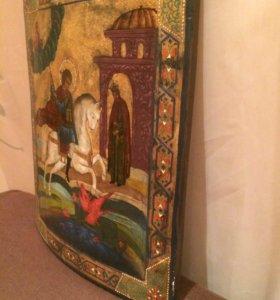 Икона старинная Георгий Победоносец