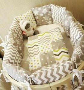 Постельное бельё для новорожденных.