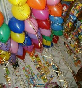 Акция! 25 шаров+ подарок кукла из шаров
