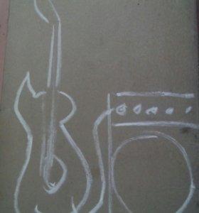 Электро гитара+ комбик