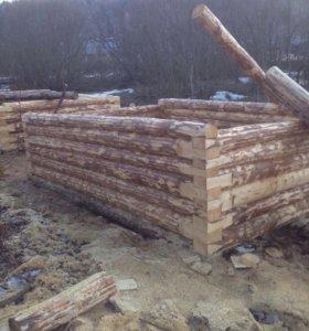 Сруб баня из зимнего леса. Доставка бесплатная,