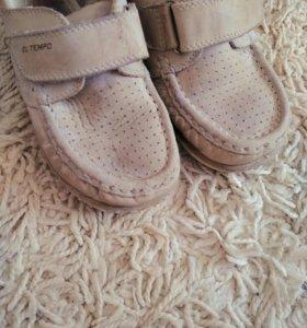 Tempo. Ботинки мокасины кожаные