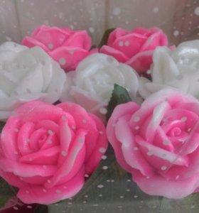 Корзиночка, букет мыльных роз!