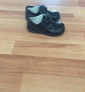 Туфли чёрные детские размер 18,20