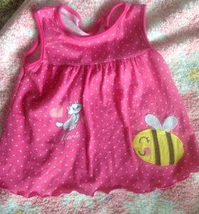 Сарафан (платье) для девочки 56-62