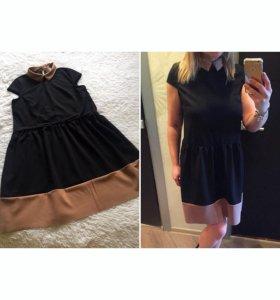 Платье с воротником  L