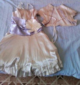 Продам красивое платье из шелка