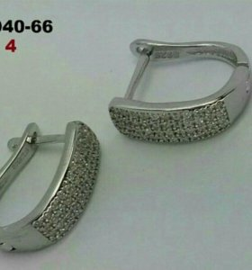 Сережки серебро 925
