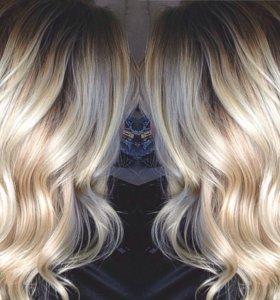 Снятие волос 💕 прядей капсул нарощенных
