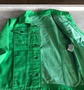 Джинсовая куртка(для мальчика, 140 рост)
