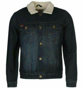 Мужская джинсовая куртка с мехом LeeCooper