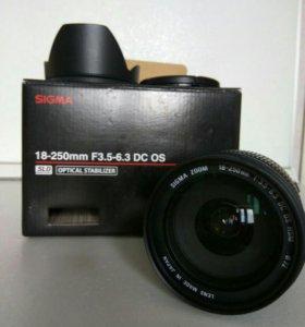 Объектив sigma 18-250mm F3,5-6,3 DS OS