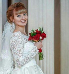 Свадебное платье.кружево. модель 2017г