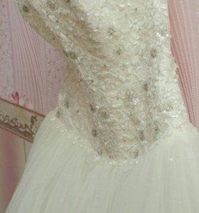 Свадебное платье на прокат р-р 44-50