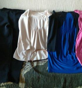 Одежда для беременных:джинсы,брюки,платье, р.46-48