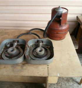 Переносная газовая плита без баллона