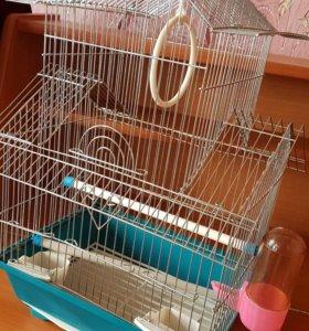 Клетка для попугаев+поилка