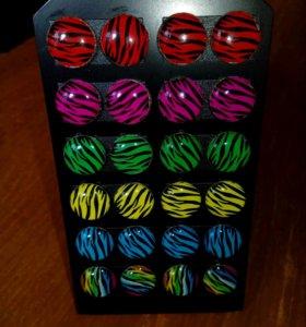 Новые сережки
