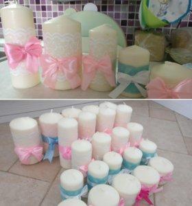 Свечи Икеа декор украшение для свадьбы