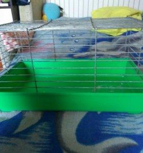 Клетка для кроликов морских свинок б/у