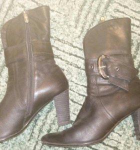Ботинки,нат. кожа,б/у,в нормальном состоянии