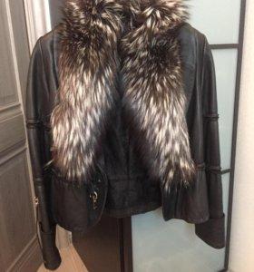 Кожаная куртка WEITRAL с меховым воротником