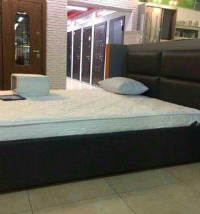 Кровати в эко-коже и ткани от производителя