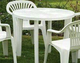 Набор стол и 4 стула пластиковые