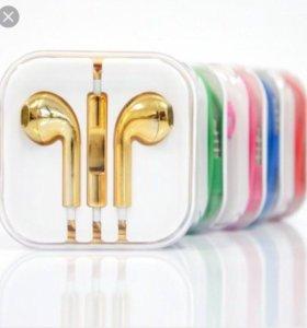 Наушники Apple на iPhone 5, 5s, 6, 6s / iPad