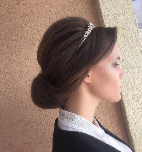 Прическа макияж