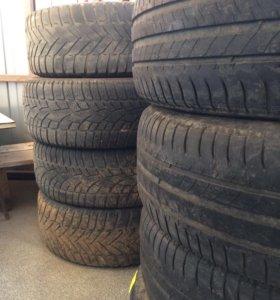 Резина Mishlen 16 и Dunlop 16 б/у