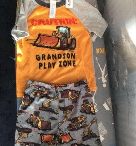 Костюм шорты+футболка Новый( Америка) 95-104см
