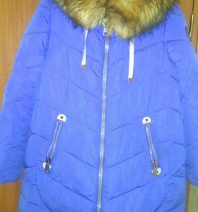 Зимнее пальто, очень тёплое.