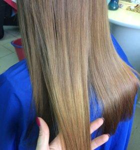 Кератиновое восстановление волос+ подравнивание🎁