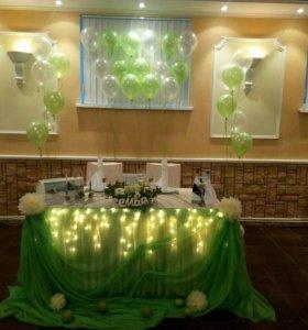 Оформление свадеб, аэродизайн,флористика