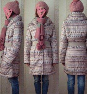 Куртка+шапка+шарф