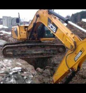 Демонтаж домов экскаватором. Котлован под ключ.