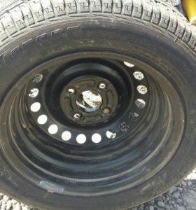 Запасное колесо митцубиси лансер 9