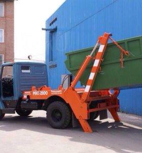 Вывоз мусора контейнером 8 м³