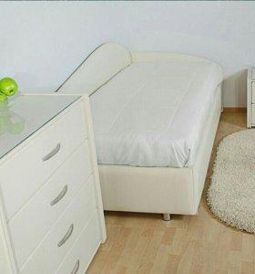 Кровать односпальная кожаная(производство)