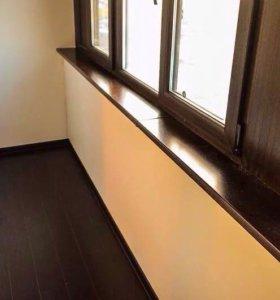 Малярные работы на балконах и лоджиях