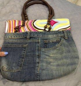 Сумка новая) джинсы