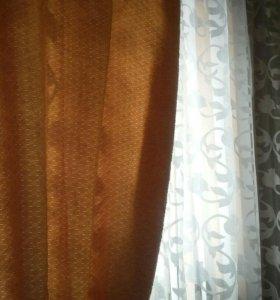 Плотные шторы.