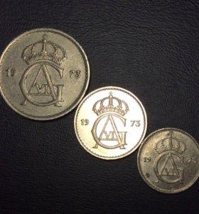Комплект монет Швеции 1973 года