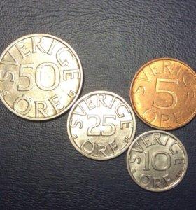 Комплект монет Швеции