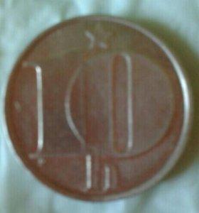 NUM 10 геллеров 1977 Чехословакия
